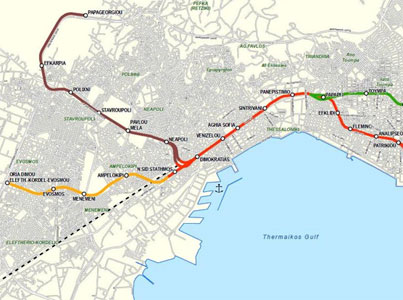 Fig 1. Thessaloniki Metro (western section)