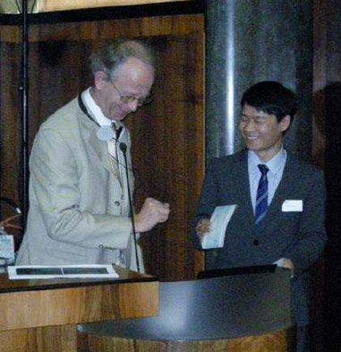 Ying Zhen Li won the 2012 ITA-COSUF Prize