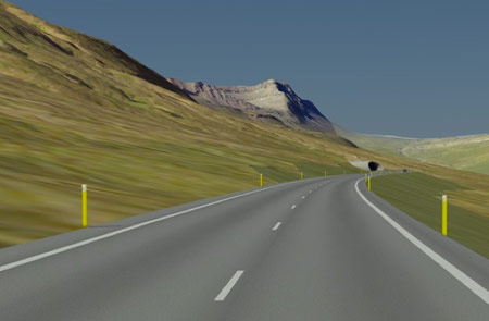 Artist impression of Nordfjordur tunnel approach