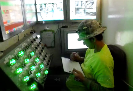 Inside the TBM operator's cab