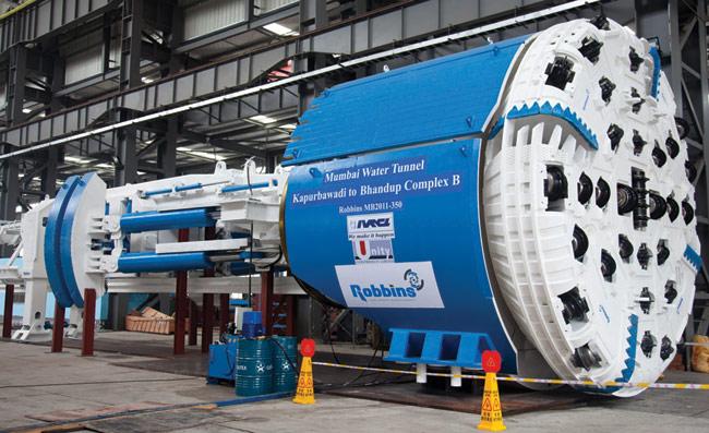 The 6.25m diameter Robbins TBM