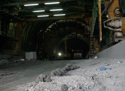 Tunnel construction work in Catanzaro