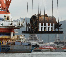 TBM lifted from seabed