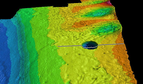 Sinkhole at accident site revealed by Coast Guard survey