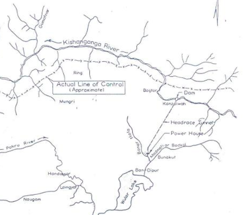 Kishanganga project map