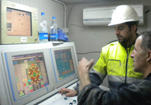 TBM operators' cabin and controls
