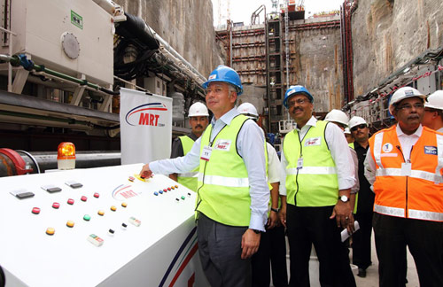 Prime Minister Datuk Seri Najib Tun Razak powered up the first VDM and the first machine on the project in May 2013