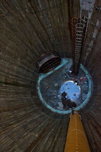 Deepest shaft in London at 75m deep
