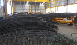 On site fabrication of the segment rebar cages