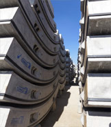 Stockpile of primary lining segments