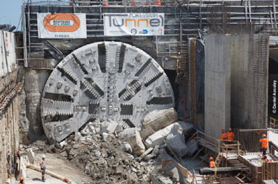 Final breakthrough marks completion of twin 1.2km traffic tunnels