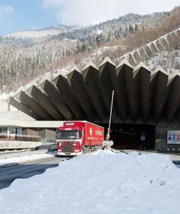 Mont Blanc: A major Apline freight link