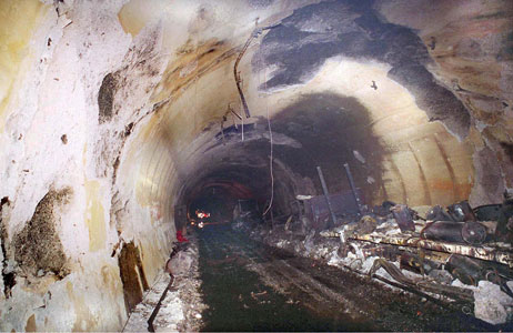 Aftermath of the 1999 Mont Blanc tunnel fire