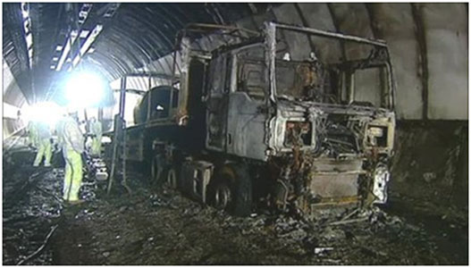 A lorry fire caused extensive tunnel damage