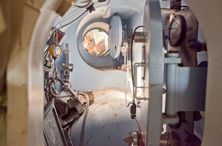 Inside the TBM hyperbaric chamber