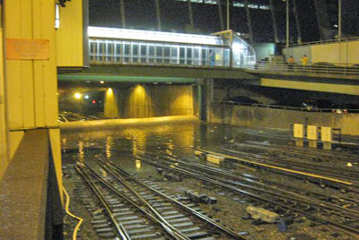 Aqua barrier helped protect Penn Street Station