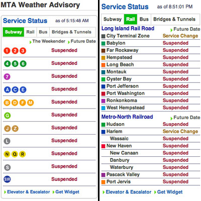 Subway, LIRR and Metro North services paralysed