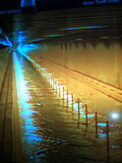 Hugh L Carey tunnel flooded