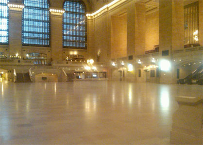 Grand Central Terminal closed and deserted