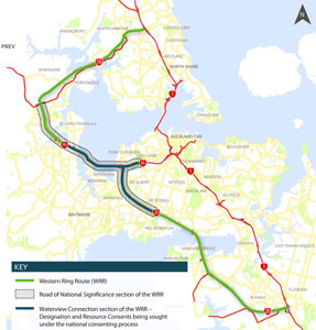 Fig 1. Highway connections for Auckland