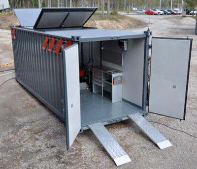 Aquajet's containerised power pack solution
