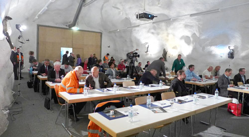 Underground seminar venue at the Hagerbach facility in Sargans