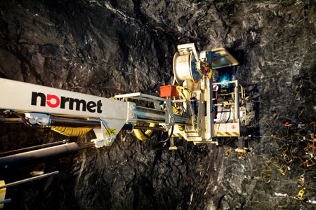 Normet manufactures tunnel machinery