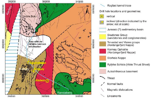 Complex geology and the unsurveyed 'white zone'