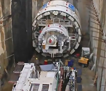 TBM in the launch shaft