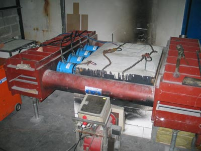 Fig 6. Large panel fire testing