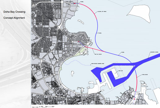 Fig 2. Concept alignment for Doha Bay Crossing