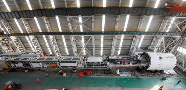 Fabrication of the first Robbins EPBM for Nanjing delivery