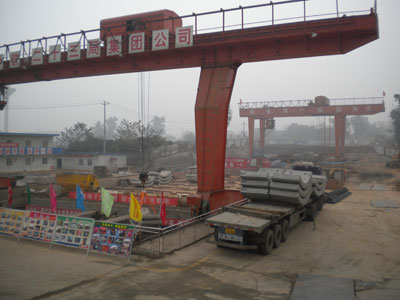 Delivery of segments to the Chendgu Metro site