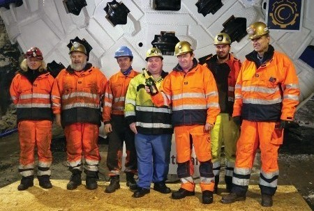 Røssåga team ahead of TBM launch