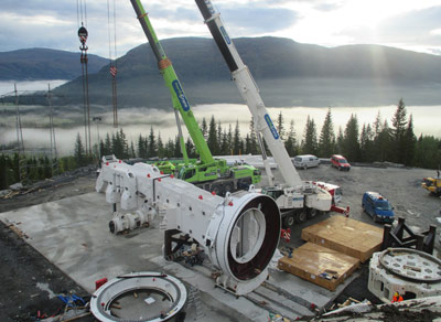 Far north jobsite and start of TBM assembly