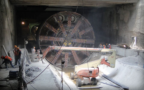 10.2m diameter TBM completed seven drives