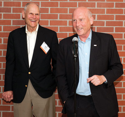 Dick Robbins and Lok Home speak at the Robbins 60<sup>th</sup> anniversary event, held following the NAT Conference in June