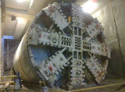 TBM breathrough at the Senisio Station
