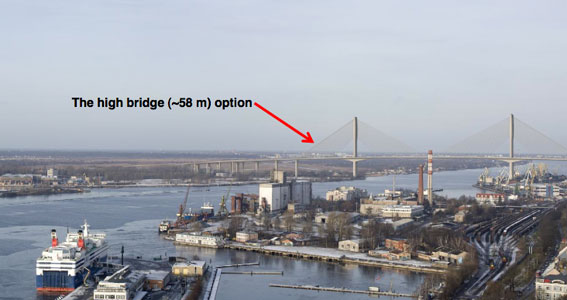 Bridge shelved in favour of an immersed tube crossing in Riga