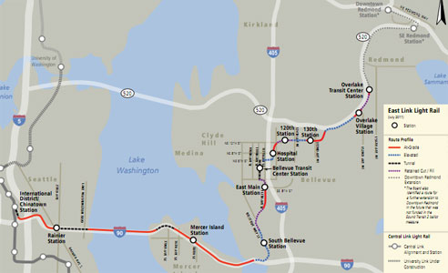 Seattle's East Link route is now finalized