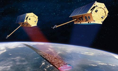 Fig 1. Astrium's twin satellites