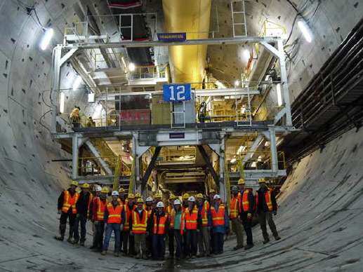 Students paid a site visit to world record project in Seattle