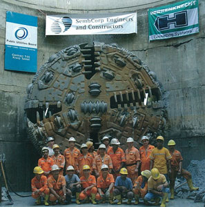Reasons to be cheerful! Breakthrough of the T-05 north drive TBM in Singapore after more than three years of tough going