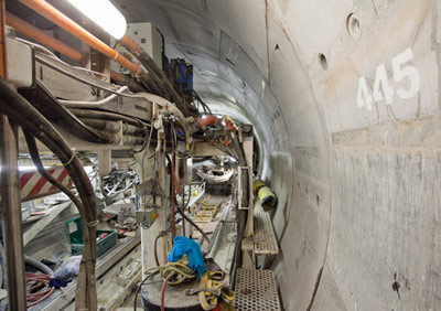 TBM Yorkie segment unloader area