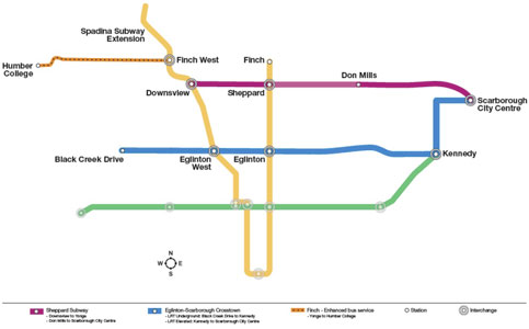 Fig 2. Toronto Transit plan
