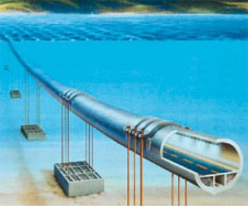 Submerged floating tunnel concept