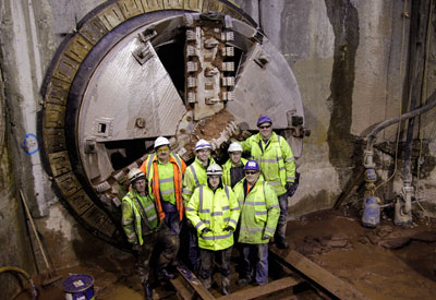 Preston tunnelling team celebrate breakthrough