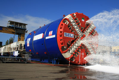 Factory test of Cityringen TBMs at Seli factory in Aprilia (2012)