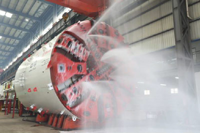 6.61m diameter machine for Delhi metro completes factory testing