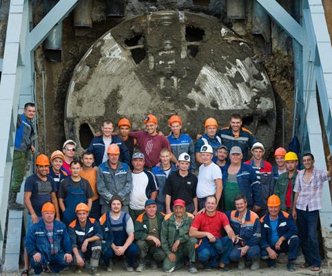 Novorossiysk oil pipeline tunnel breakthrough